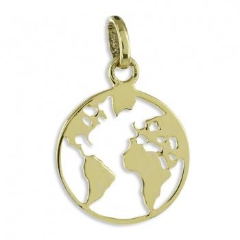 Anhänger Weltkarte Gold 333/000