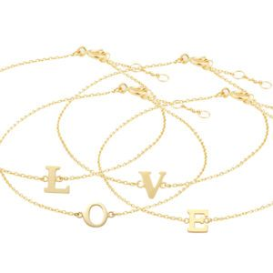 Buchstaben-Armband Gold 585/000