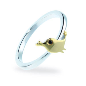 Rauschmayer Ring Love Birds Kids Collection gold rhodiniert Vogel