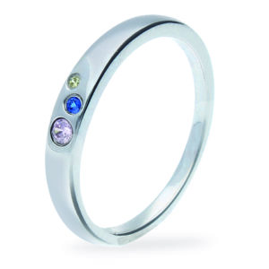 Rauschmayer Ring Love Birds Kids Collection rund 3 bunte Zirkonia