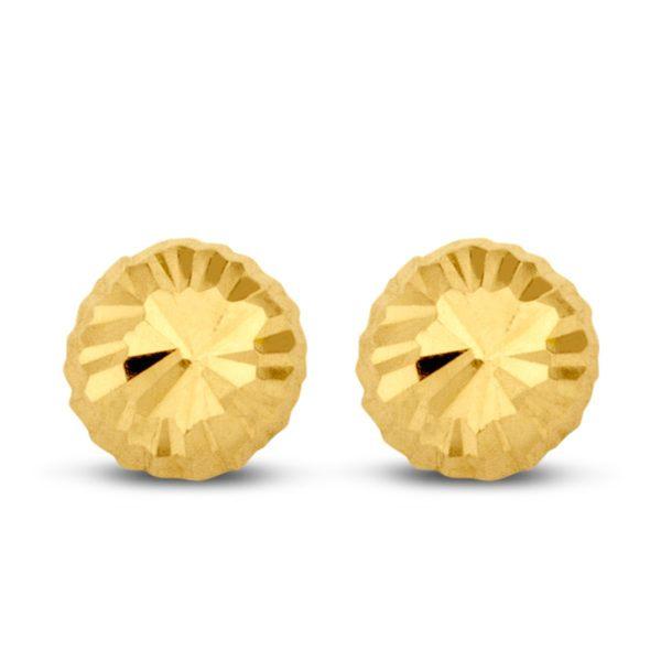 Ohrstecker Halbkugel 4mm diamantiert Gold 585/000