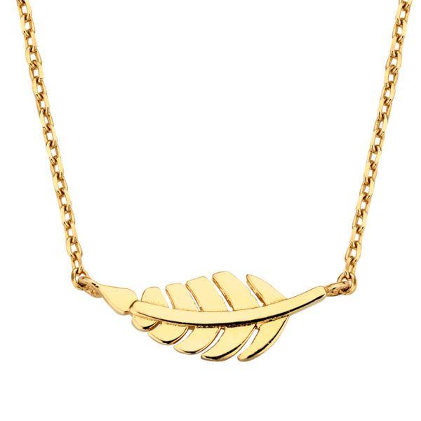 Collier Feder Gold 585/000