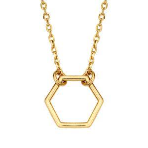 Collier Hexagon Gold 585/000