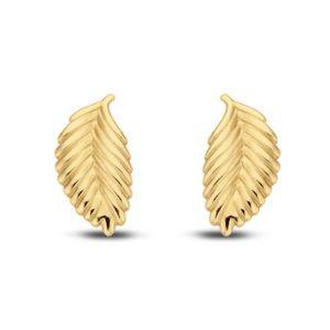 Ohrstecker Feder Gold 585/000