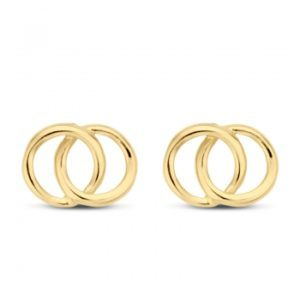 Ohrstecker Kreise Gold 585/000