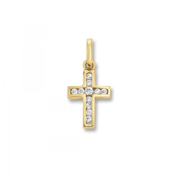 Kreuz Anhänger mit Zirkonia