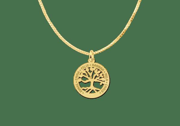 Familienanhänger aus Gold klein Namensgravur persönlich