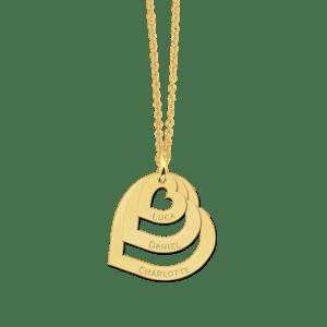 Anhänger Collier Kette gold Familie Gravur Geschenk