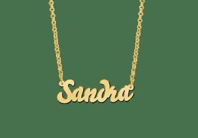 goldene Namenskette Collier Anhänger Geschenk Schmuck