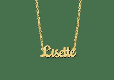 goldene Namenskette Collier Anhänger Geschenk