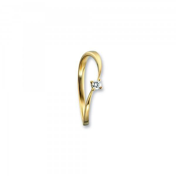 Ring Brillant 0,07ct 585/- Gelbgold