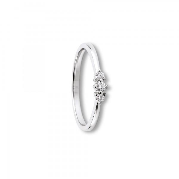 Ring Brillant 0,10ct 585/- Weißgold