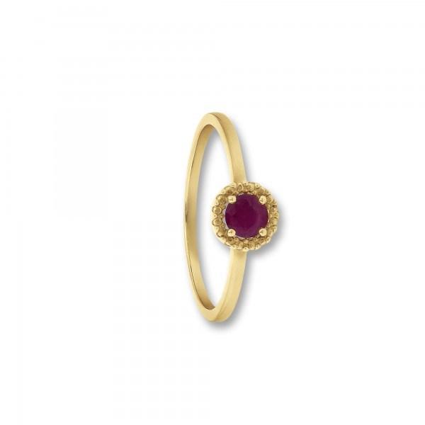 Ring Rubin 333/- Gelbgold