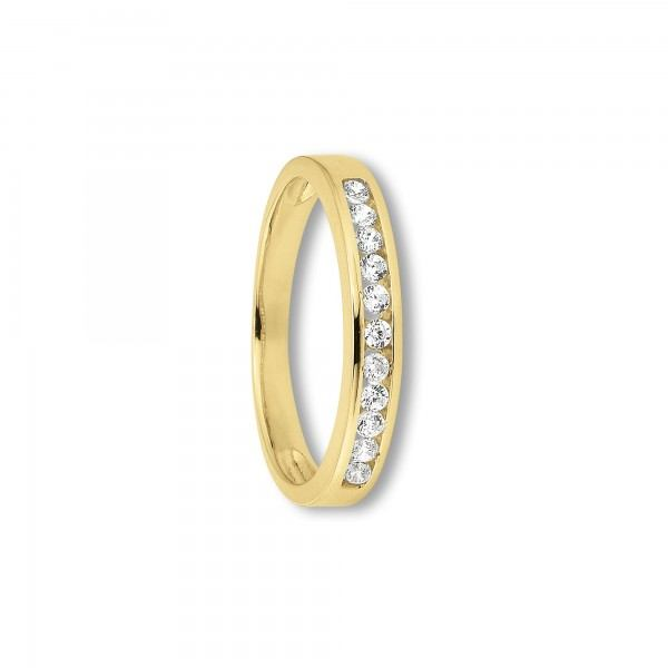 Ring Zirkonia 333/- Gelbgold