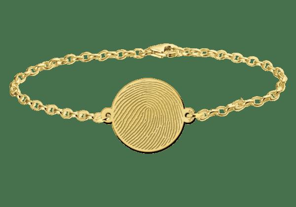 Fingerabdruck Armband personalisiert gold silber herz rechteck rund
