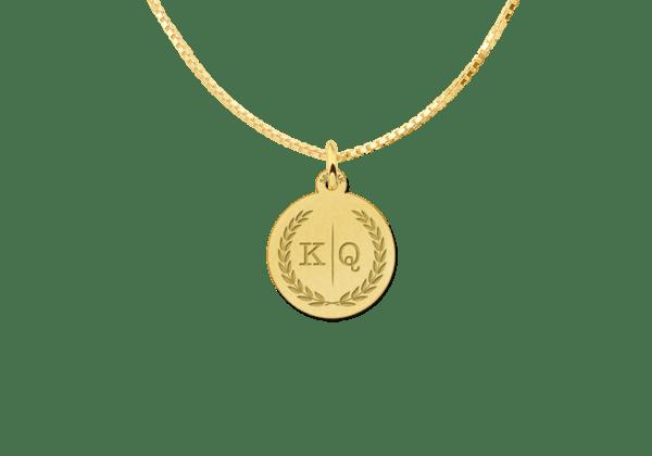 Kette mit Initialen aus Gold Anhänger personalisiert Buchstabe